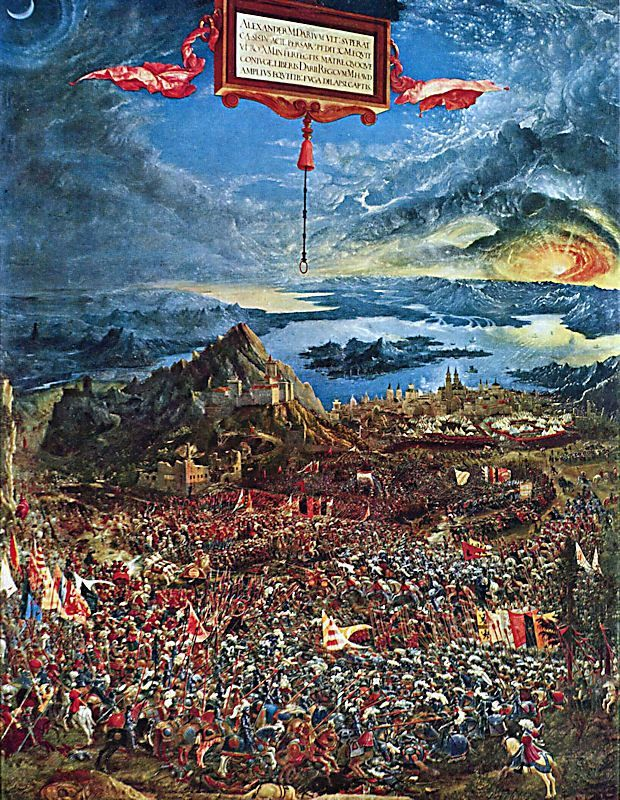 Albrecht altdorfer online for Battle of issus painting